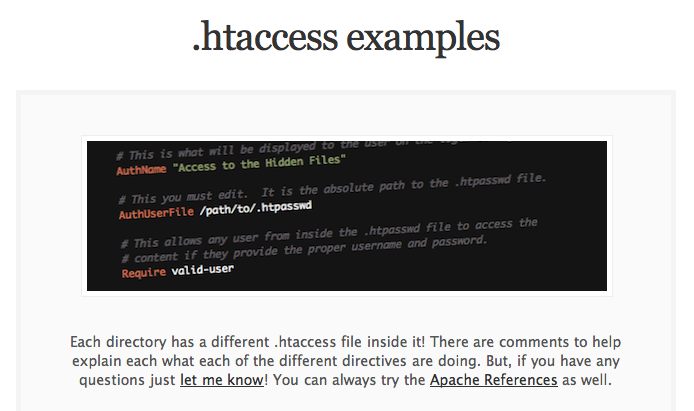 htaccess examples